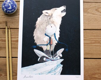 ART PRINTS// wolf girl // illustration