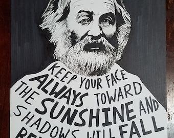 Walt Whitman (Original Drawing)