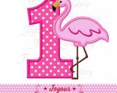 Instant Download Flamingo Number 1 Applique Embroidery Design NO:2111