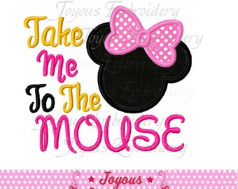 Instant Download Take Me To The Mouse Minnie Machine Embroidery Design NO:2083