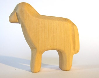 Wooden Sheep, Farm animals, Wooden Waldorf Toys, Natural Toys, Eco friendly, Waldorf Style, Wooden Animals, Carved Animals,