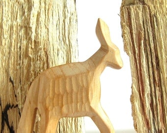 Primitive Art, Naive Art, Woodcarving, Wooden Sculpture, Miniature, Collectible, Carved Donkey, Wooden Donkey, Carved Animals