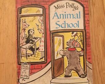"Vintage Easy Reader ""Miss Polly's Animal School"""