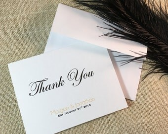Personalized Bridal Shower Thank You Cards - Made to Order