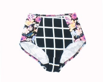 Cotton High Waist Panty Floral Print Underwear Mix and Match Knickers
