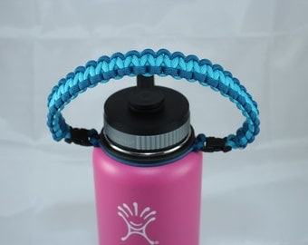 Caribbean & Neon Turquoise Color Paracord Handle
