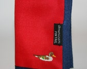 Vintage American Pintail Duck Nylon Velcro Key Wallet - Holds 4 Keys