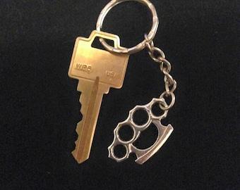 Brass Knuckle Keychain