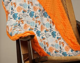Forrest Friends flannel baby blanket