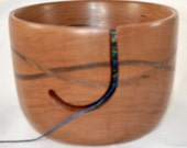 808 Yarn bowl, made from Cherry, with a double wave of Walnut