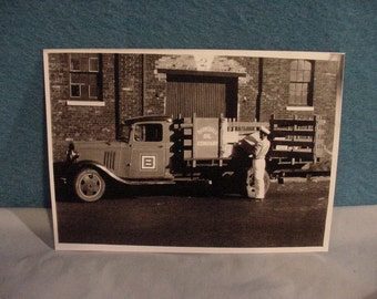 Antique Photo Print, Barnsdall Oil Co. Appears to Deliver Quaker State Oil