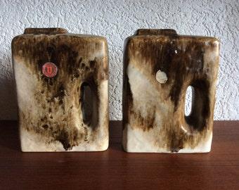 2x Chimney hole 70's Ü Keramik vases WGP, model 1444-18