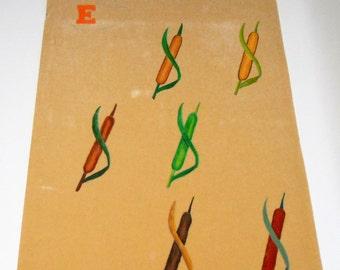 Vintage Artex, Painting, Cat Tails, Felt, Liquid Embroidery, Craft Supplies, Tri Chem, Poster, Retro Wall Art, Fall Decor