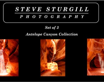 The Antelope Canyon Collection - Set of Three (3) Fine Art Prints of the Desert Southwest - Choose Your Print Size