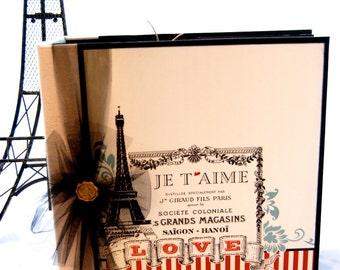 """Love Paris Handmade Album 10"""" x 10"""" inches"""