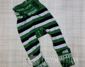 Slytherin Spells and Solid Black Circle Butt (Monster Bunz) Pants - Slim Fit