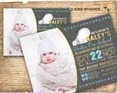 Winter ONEderland invitation - Winter ONEderland first birthday invitation - First birthday party invite with polar bear - Gold Aqua gray
