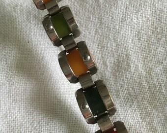 Bakelite multicolored brooch
