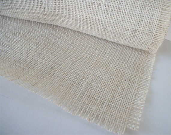 White burlap table runner 12 inches x 60 by for 12 ft table runner
