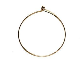 4 Brass Ear Wire, Round Ear Wire, Hoops, Earring Drops, 60x58 mm