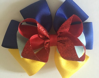 Disney princess Snow White inspired hair bow