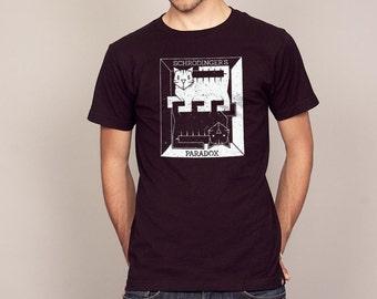 SCHRODINGERS CAT physics T-shirt science quantum Men's and Ladies Sizes