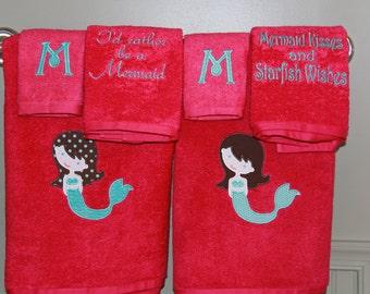 Mermaid Towel Set