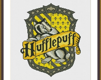 Hufflepuff Crest - Harry Potter Cross stitch pattern PDF Instant Download
