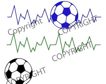 Soccer Life Line, soccer ball cutting file, cut file, vinyl ready design, SVG file, silhouette file, cricut file, ready to cut