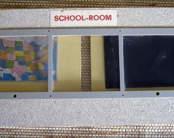 Folding School Room Diorama, Vintage and Fabulous