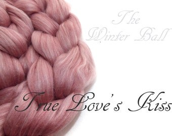 Blended tops-100g/3.5oz- Merino, Mulberry silk, Milk-Faux Cashmere-Firestar-TRUE LOVE'S KISS