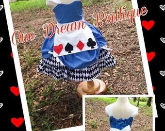 Alice in wonderland queen of hearts inspired mad hatter dress