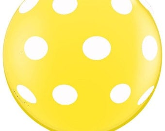 3' Foot Light YELLOW HUGE Latex Oversized Balloon - Trendy, Easter, Sunshine, Baby Shower, Photo Prop, Table Decor  Party Supplies