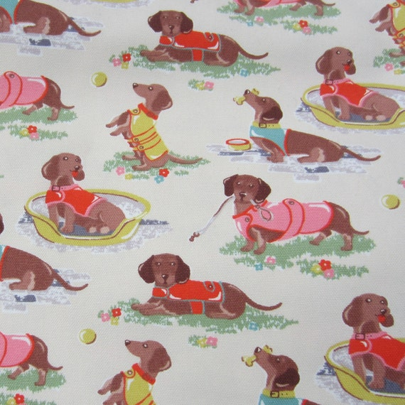 1m Cath Kidston Cotton Canvas Sausage Dog By Handmadesource