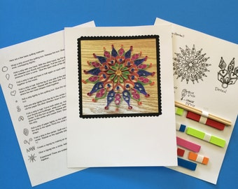 Jubilee Mandala/paper quilling kit