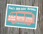 Printable TWO-bular Birthday Invitation