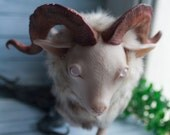 Magical albino Capricorn - OOAK posable toy