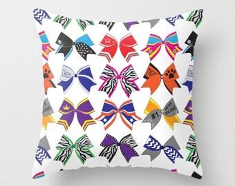 Pillow cover Original Cheerleading Bow design  print on both sides, home decor, housewares