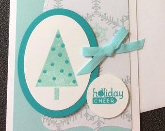 Christmas, Tree, Snow Flakes, Handmade, stampin up, card