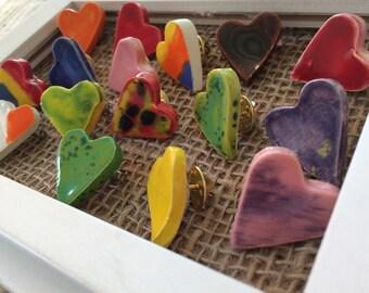 Heart Pins made by Joe