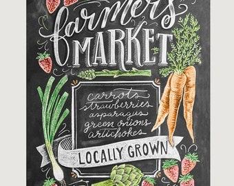 Farmeru0027s Market Sign   Chalkboard Sign   Spring Farmers Market   Spring  Produce   Farmeru0027s Market