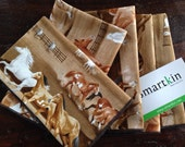 Beautiful Tossed Horse Napkin by Smartkin