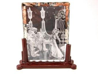 Art Deco picture frame British Made plastic Faux bakelite material burgundy