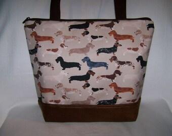 Made to Order - Wire Hair Dachshund-Wiener Dog Purse - Shoulder Bag - Handbag - Bag in Pink, Tan, Blue or Purple