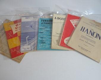 Set of 6 Vintage Piano Instruction Books