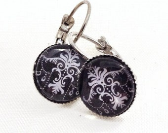 Earrings cabochon of baroque inspiration! Baroque inpired cabochon earrings!