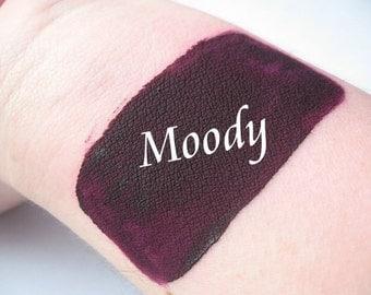 Moody - Dark Plum Purple with Pink Undertones Goth - Cream Liquid Matte Lipstick - Matte Lipstick VEGAN Lips Mineral Makeup Goth Pastel Goth