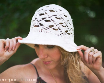 Crochet Pattern for Willow Sunhat Brimmed Hat ,  PDF 16-262