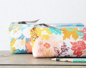 Pencil Pouch, Zipper Pouch, Pencil Case - Flowers