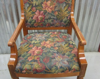 Vintage Chaircraft Arm Chairs Dining Office Conference Chairs Floral